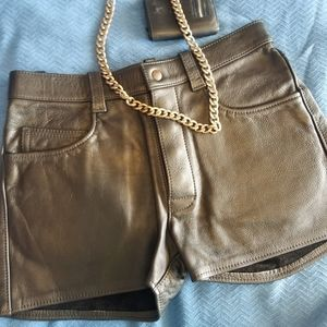 Mr. S Leather Jean Short